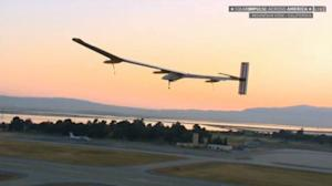Solar Plane Takes Off on Last Leg of Historic Cross-Country Flight