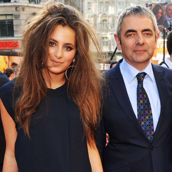 Rowan Atkinson Steps Out With 32-Year-Old Girlfriend, Louise Ford, For A Romantic Lunch Date
