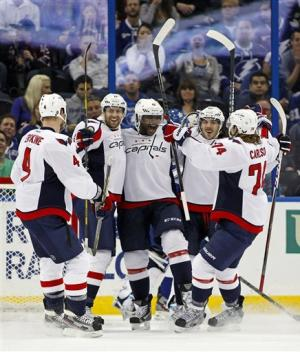 Fehr has 2 goals in Capitals' win