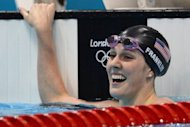 Missy Franklin celebrates after winning the women's 200m backstroke in August. She helped propel the United States to their familiar spot atop the Olympic swimming medals table with 16 gold, 8 silver and 6 bronze for a total of 30