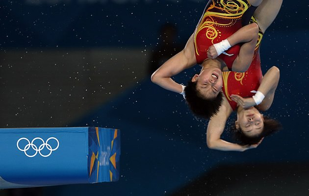 Chinese divers Chen Ruolin and Wang Hao (Getty Images)