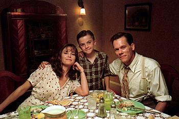 Diane Lane , Frankie Muniz and Kevin Bacon in Warner Brothers' My Dog Skip (12/99)