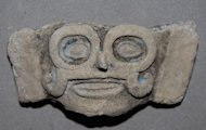 An artifact depicting Tlaloc, a Pre-Columbian water god, was found at the human sacrifice site at Lake Xaltocan, Mexico.