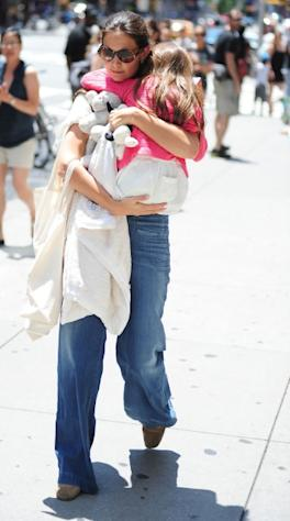 Katie Holmes and Suri Cruise are seen in New York City on July 8, 2012 -- Getty Premium