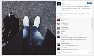 Instagram Gets Direct: How You Can Use Direct Messages image Gap Instagram Direct