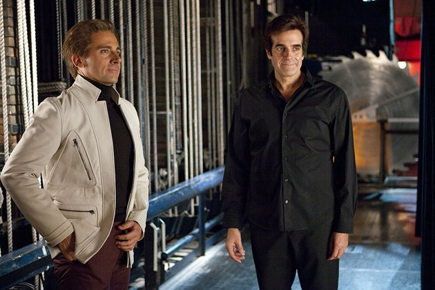 Steve Carell and David Copperfield in 'The Incredible Burt Wonderstone'