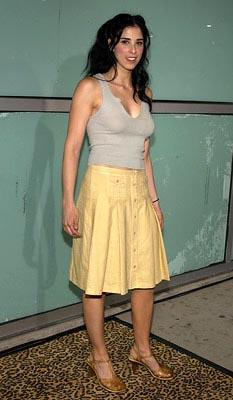 Sarah Silverman at the LA premiere of Paramount's The School of Rock
