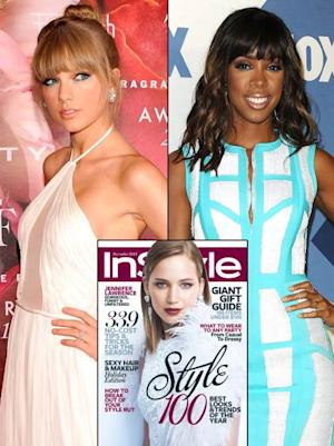 Taylor Swift/Kelly Rowland (Inset: InStyle) -- Getty Images