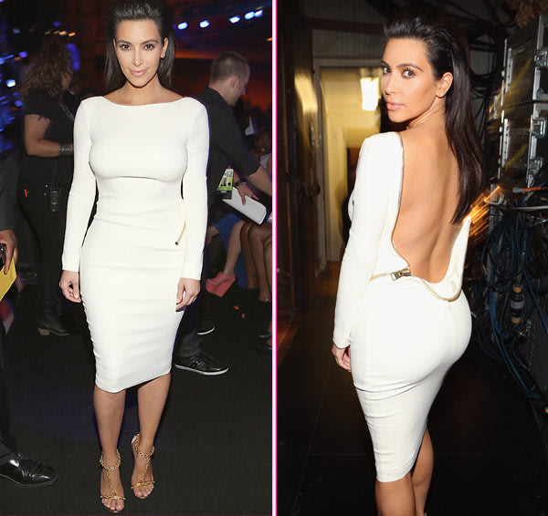 Kim Kardashian Goes Backless For The BET Awards