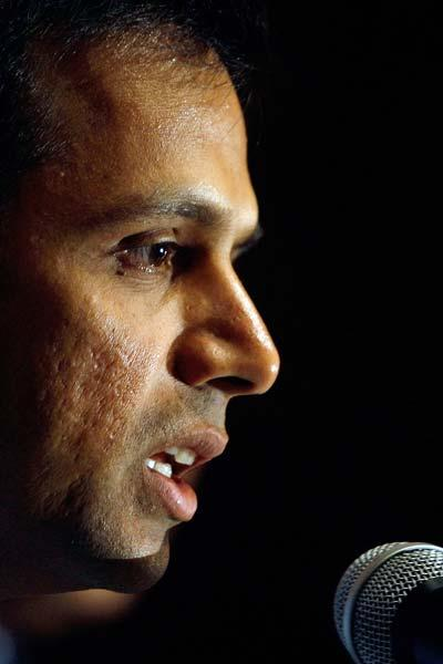 Dravid was the first non-Australian selected to deliver the Sir Don Bradman Oration. His speech that was made in Canberra in December 2011, dealt with the game's history, current concerns and uncertai