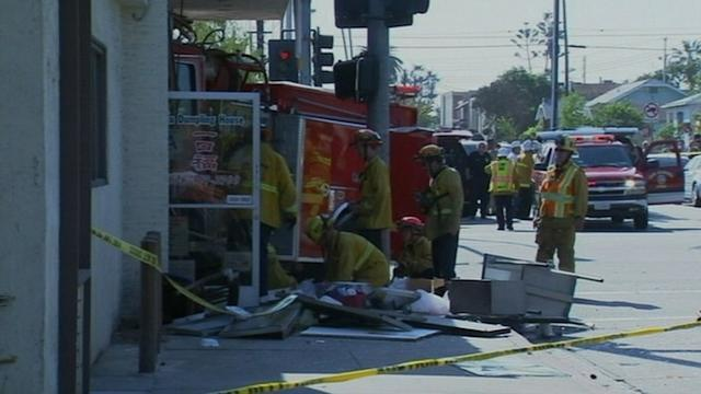 Firetruck Plows Into California Restaurant