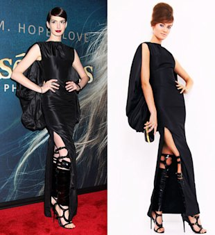 Yay or Nay? Anne Hathaway Wears Tom Ford's Bondage Sandals At Les Miserables Premiere