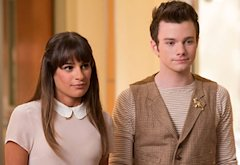 Lea Michele and Chris Colfer | Photo Credits: Eddy Chen/Fox