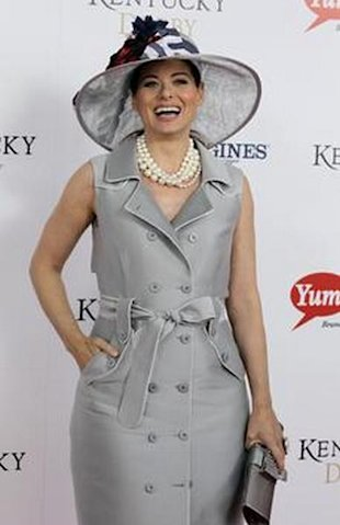 debra messing at the kentucky derby