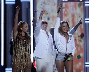 "Singer Claudia Leitte performs ""We Are One"" …"