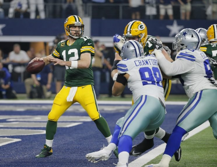 Aaron Rodgers threw for 355 yards and two touchdowns last week. (AP)