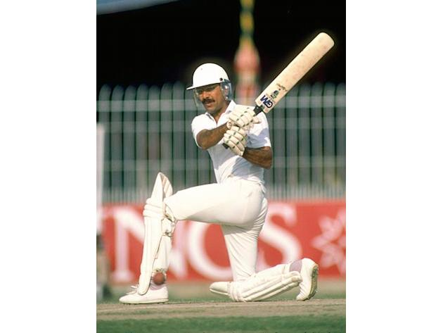 Zaheer Abbas scored his individual ninety in World Cup games when he made 93 against West Indies at The Oval on 20.06.79. His first ninety was 97 against Sri Lanka at Nottingham on 14.06.75. (Getty Im