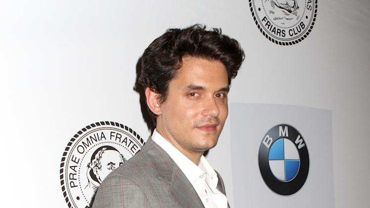 Musician John Mayer poses for photos at the Friars Club Roast of Don Rickles at the Waldorf Astoria on Monday, June 24, 2013 in New York. (Photo by Greg Allen/Invision/AP)
