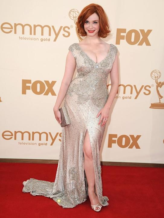 "Red-headed bombshell Christina Hendricks has gained as much attention for her voluptuous curves as her winning performance on ""Mad Men"". But despite the (often negative) chatter, Hendricks has always"