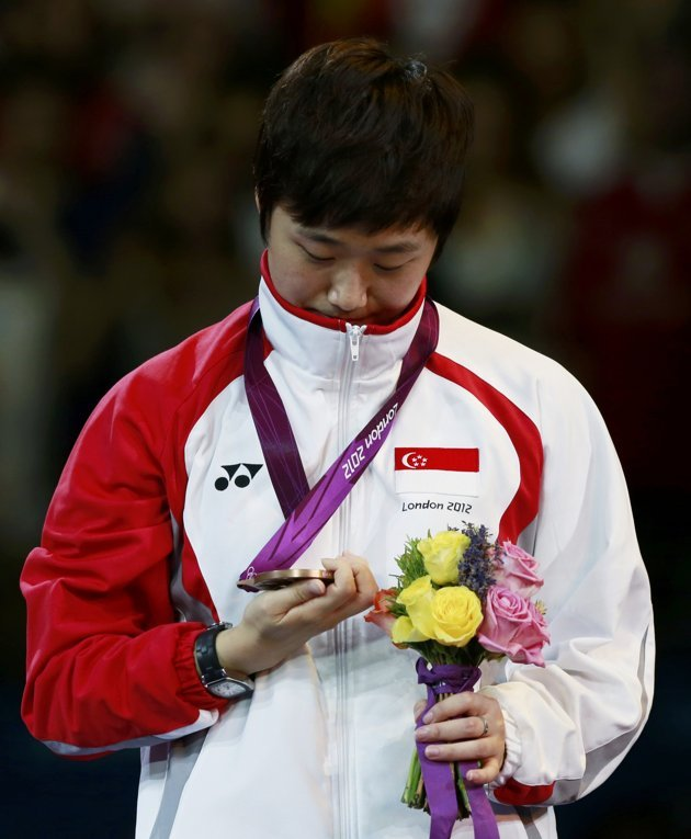 Feng's bronze medal will earn her S$250,000 under the MAP scheme. (Reuters photo)