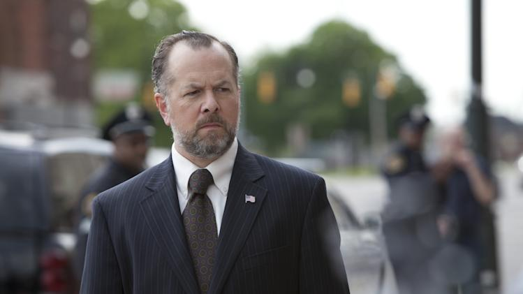 "This publicity image released by AMC shows David Costabile as Simon Boyd in a scene from ""Low Winter Sun,"" premiering Aug. 11, 2013. (AP Photo/AMC, Frank Ockenfels)"