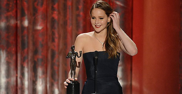 Jennifer Lawrence lors des SAG Awards. (Getty Images)