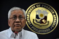 The Philippine foreign secretary, Albert Del Rosario (pictured on April 11), has called on other nations to take a stand on China's new aggressiveness in a simmering territorial dispute over a shoal in the South China Sea