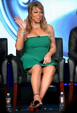 Mariah Carey Shows Off Super-Dark Tan at American Idol TCA Panel