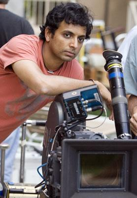 Writer/director M. Night Shyamalan on the set of Warner Bros. Pictures' Lady in the Water