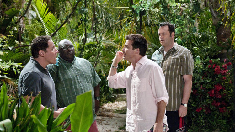 Jon Favreau Faizon Love Jason Bateman Vince Vaughn Couples Retreat Production Stills Universal 2009