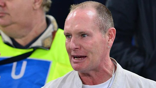 Paul Gascoigne on a visit to watch Lazio in 2012 (AFP)