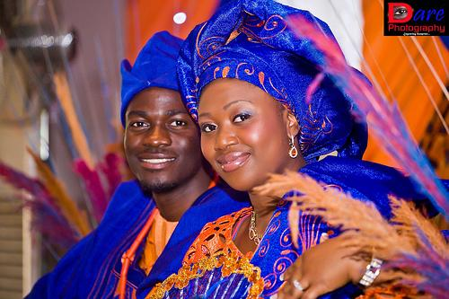 Nigerian Couple in Blue