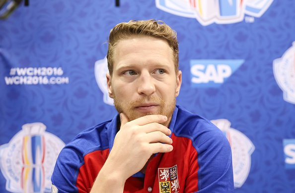 TORONTO, ON - SEPTEMBER 15: Ales Hemsky #83 of Team Czech Republic takes questions during media day at the World Cup of Hockey 2016 at Air Canada Centre on September 15, 2016 in Toronto, Ontario, Canada. (Photo by Andre Ringuette/World Cup of Hockey via Getty Images)