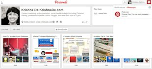 How To Use Pinterest Messages On Your Desktop Or Mobile Device image Pinterest marketing tip access the Pinterest messges area online in the notifications area 600x273