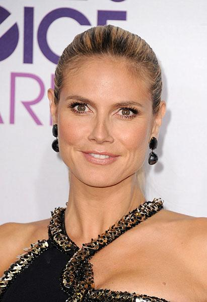 Heidi Klum wearing faceted black Lorraine Schwartz jewels