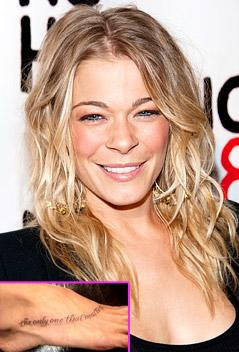 LeAnn Rimes Gets Foot Tattoo in Honor of Eddie Cibrian