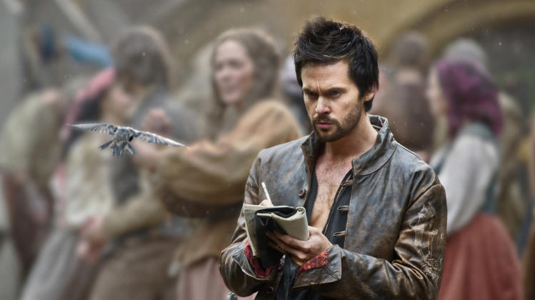 "This publicity image released by Starz shows Tom Riley as Leonardo Da Vinci in a scene from ""Da Vinci's Demons,"" premiering Friday, April 12 at 10 p.m. EST on Starz. (AP Photo/Starz Entertainment, LLC, Ollie Upton)"