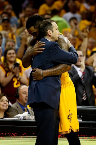 Blatt and Smith share a meaningful embrace. (Gregory Shamus/Getty Images)