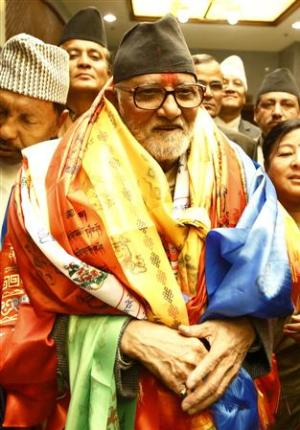 Newly elected Nepalese Prime Minister Sushil Koirala…