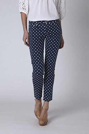 AG Polka Dot Angle Stevie Pants