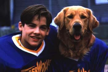Kevin Zegers with Buddy in Air Bud: Golden Receiver