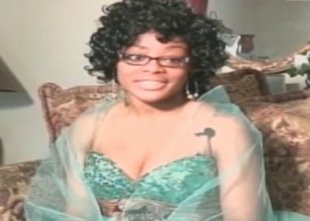 Erica DeRamus in her prom dress. CNN