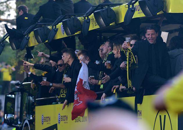 Players Of German Soccer Club Borussia Dortmund Celebrate AFP/Getty Images