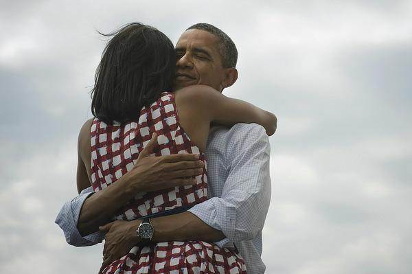 Victory: Obama's team tweeted this image to announce his victory (Twitter)