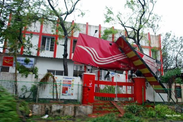 Wrecked post office in Puducherry
