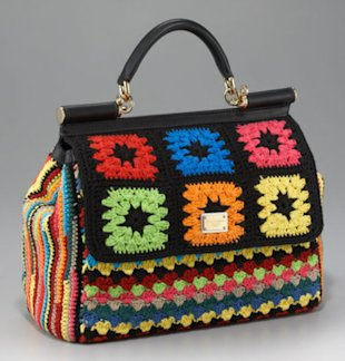 This Dolce & Gabbana handbag reminds us of Roseanne's favorite blanket