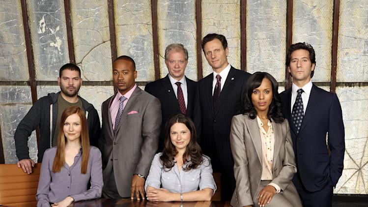 "The cast of ""Scandal."""