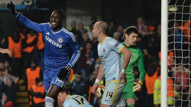 Demba Ba celebrates his goal (AFP)