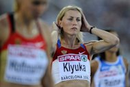 Russia's Svetlana Klyuka at the 2010 European Athletics Championships in Barcelona. The Russian Athletics Federation has handed down two-year bans on three runners - Svetlana Klyuka, Yevgenia Zinuriva and Nailya Yulamanova