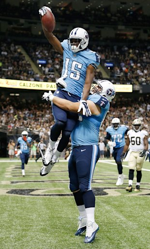 Justin Hunter has the makings to be a TD magnet for the Titans. (Getty)